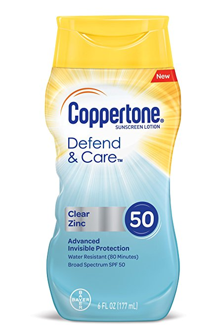 Coppertone Defend And Care Clear Zinc Spf 50