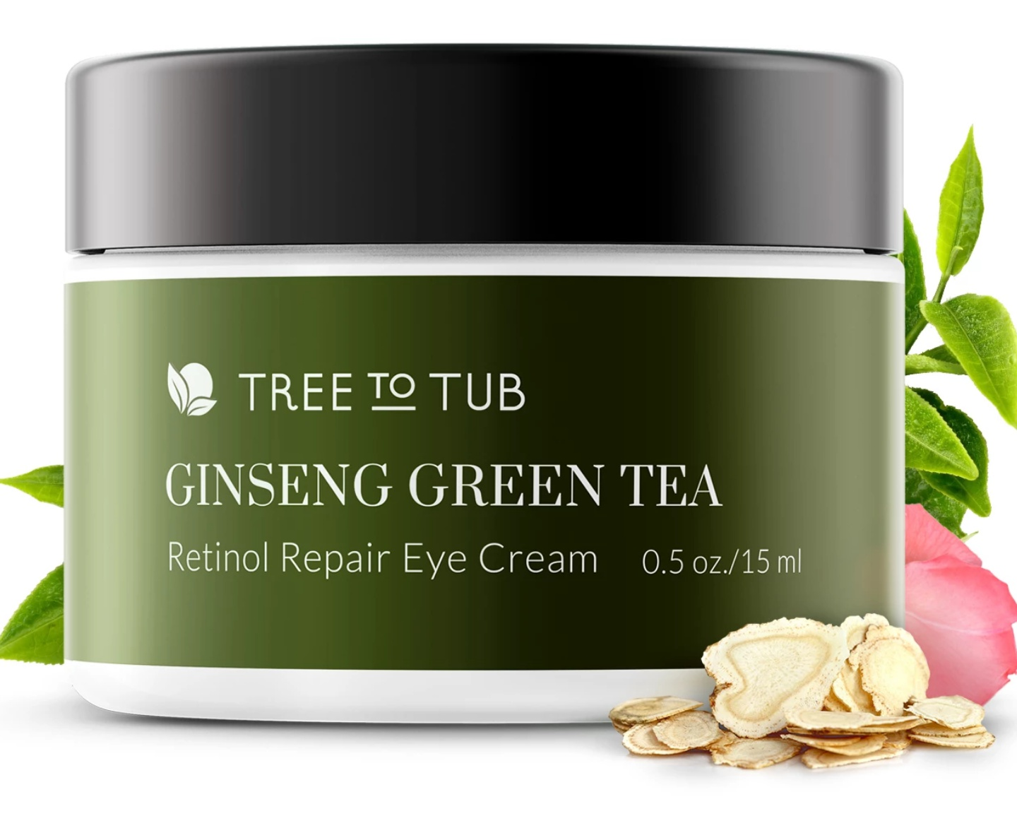 Tree to Tub Ginseng Green Tea Eye Cream With Retinol & Hyaluronic Acid