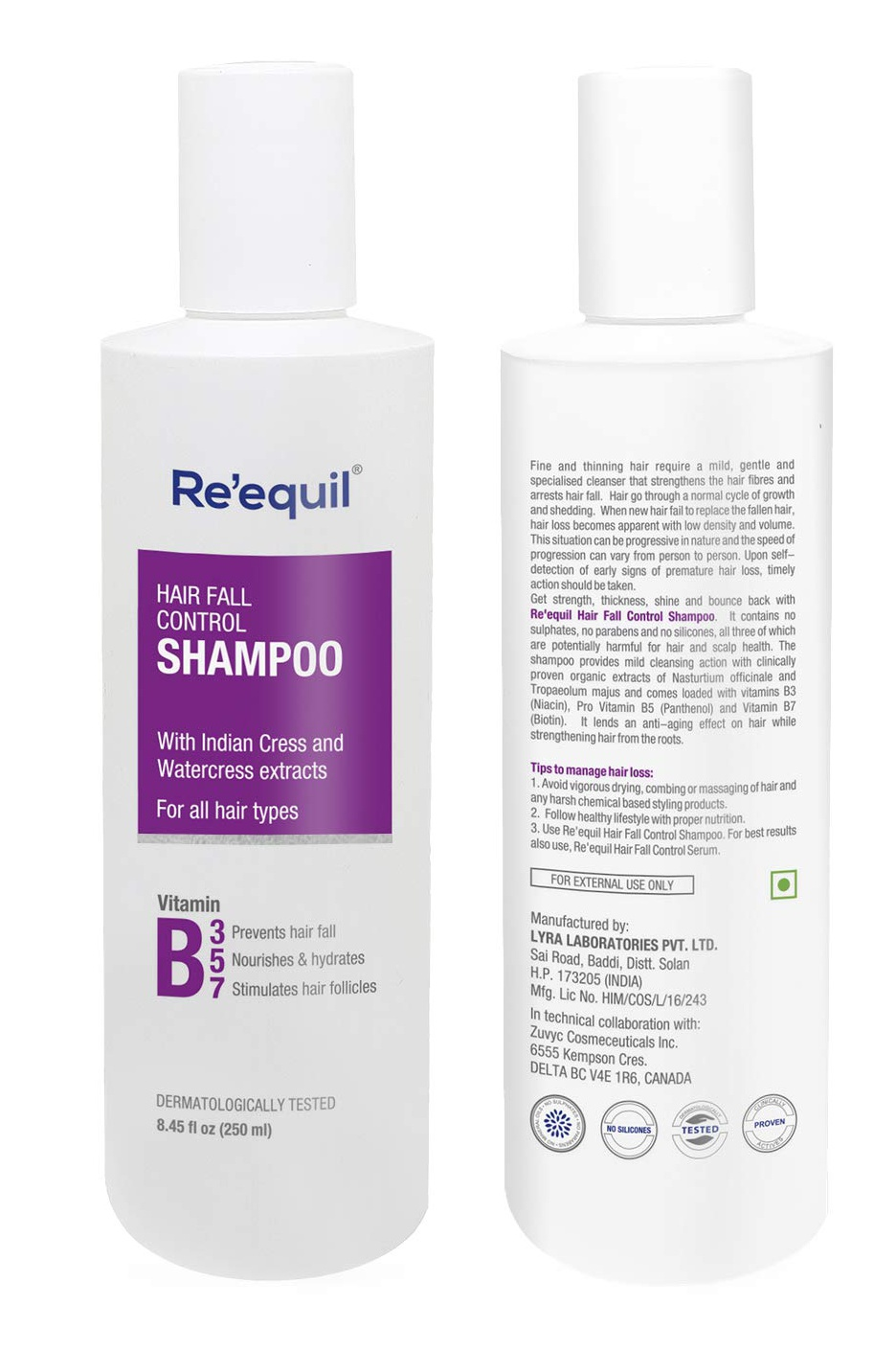 Re'equil Hair Fall Control Shampoo