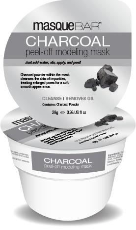 MasqueBAR Charcoal Peel-Off Modeling Mask