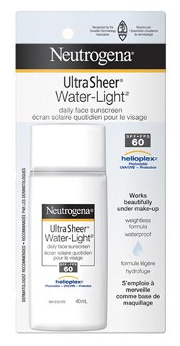 Neutrogena Ultra Sheer® Water-Light® Daily Face Sunscreen Spf 60