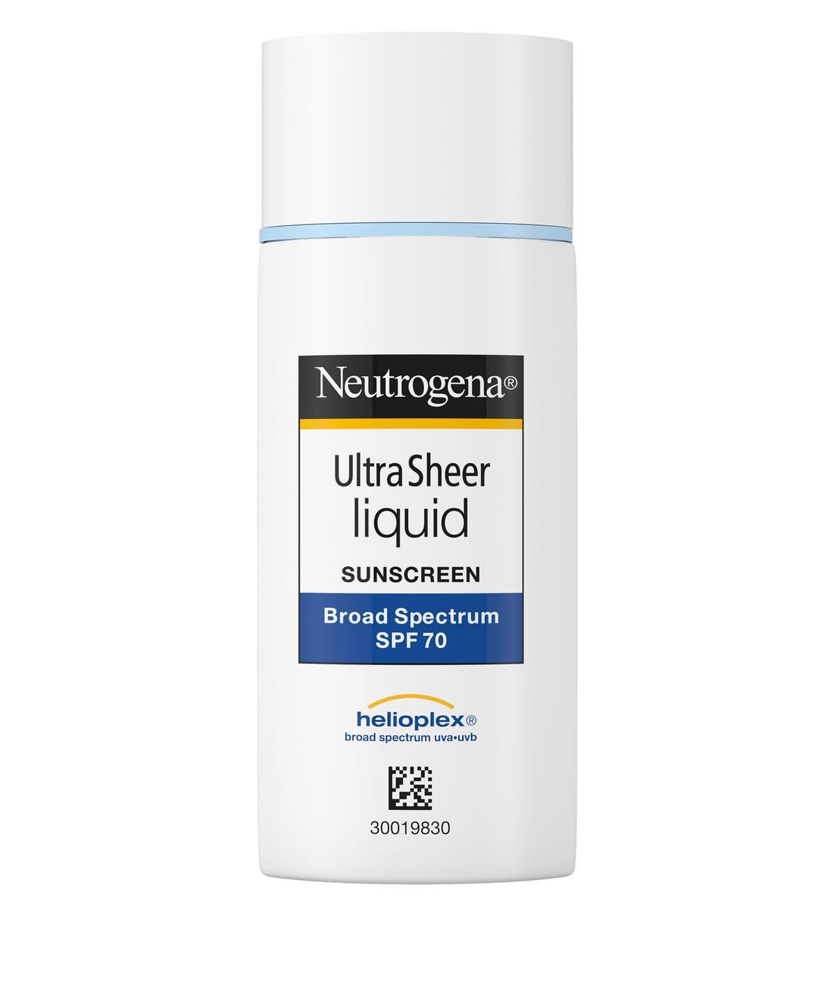 Neutrogena Ultra Sheer® Liquid Sunscreen Broad Spectrum Spf 70