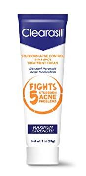Clearasil Stubborn Acne Control 5-In-1 Spot Treatment Cream
