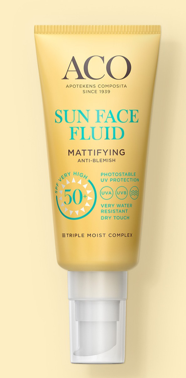 ACO Sun Face Fluid Mattifying Spf 50+