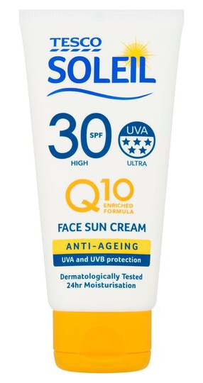 Tesco Soleil Q10 Anti-Aging Sun Cream Face SPF 30