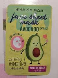 Maxbrands Face Sheet Mask Avocado Extract