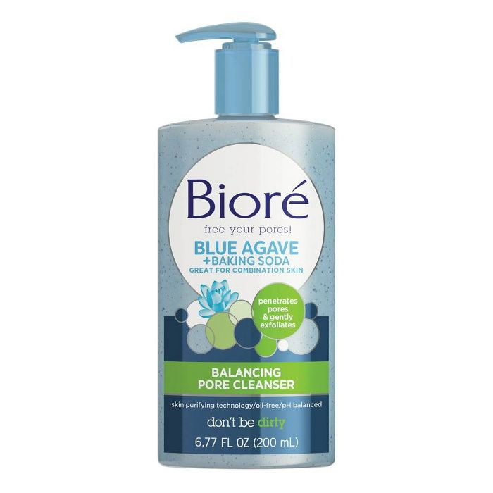 Biore Blue Agave + Baking Soda Balancing Pore Cleanser