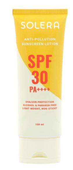 SOLERA Anti-Pollution Sunscreen Lotion SPF 30 Pa ++++