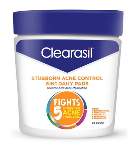 Clearasil Stubborn Acne Control 5In1 Daily Pads