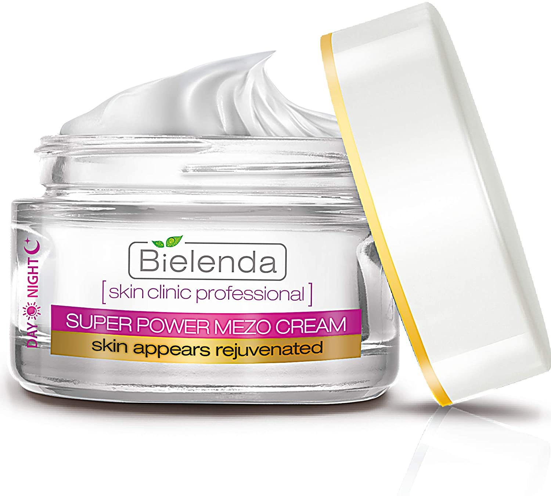 Bielenda Super Power Mezo   Active Rejuvenating Face Cream With Phyto-Ceramidyl Omega & Q10