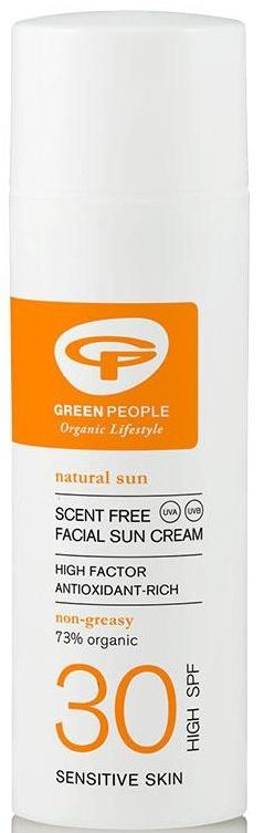 Green People Scent Free Facial Sun Cream - SPF30