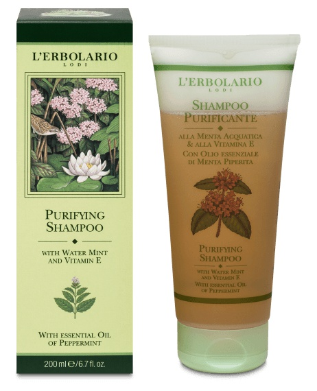 L'Erbolario Purifying Shampoo With Water Mint And Vitamin E