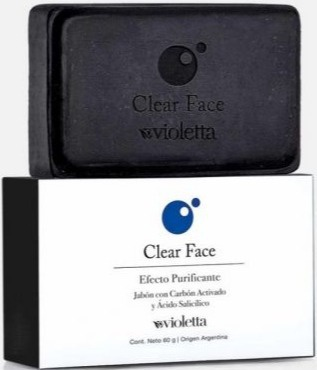 Violetta Clear Face Soap with Activate Carbon