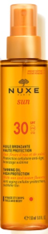 Nuxe Tanning Oil High Protection For Face And Body Spf 30