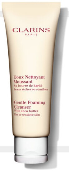 Clarins Gentle Foaming Cleanser With Shea Butter - Dry/Sensitive Skin