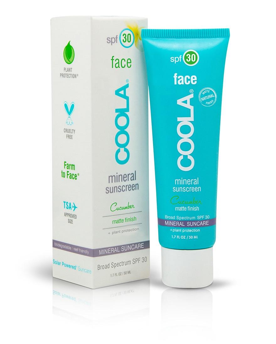 Coola Face Spf 30 Mineral Sunscreen Cucumber Matte Finish