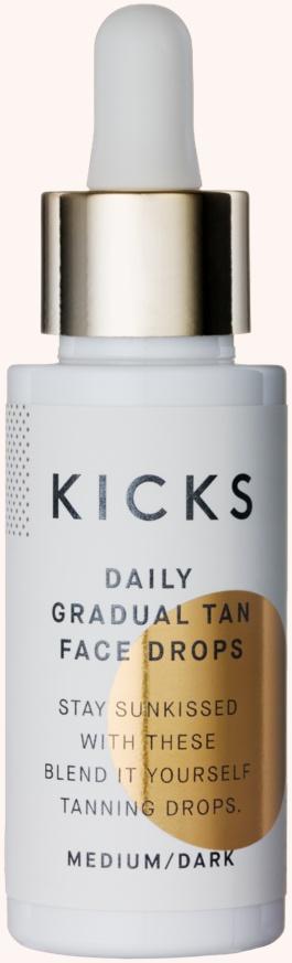 Kicks Beauty Daily Gradual Tan Face Drops