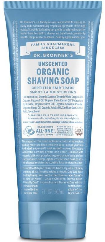 Dr Bronner Organic Shaving Soap - Unscented
