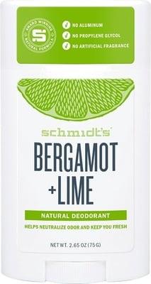 Schmidt Bergamot + Lime Natural Deodorant Stick