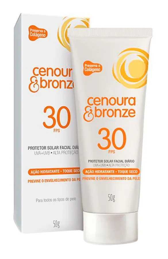 Cenoura & Bronze Protetor Solar Facial Diário Fps 30