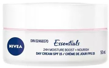Nivea Essentials 24H Moisture Boost + Nourish Day Cream Spf15