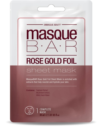 MasqueBAR Rose Gold Foil Sheet Mask