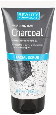 Beauty Formulas Activated Charcoal Facial Scrub