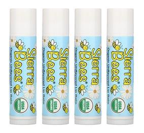 Sierra Bees Organic Lip Balms, Unflavored