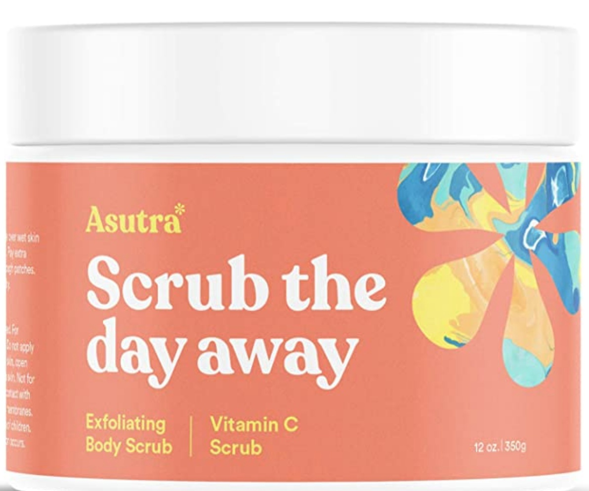 asutra Himalayan Sea Salt Body Scrub Exfoliator (Vitamin C)