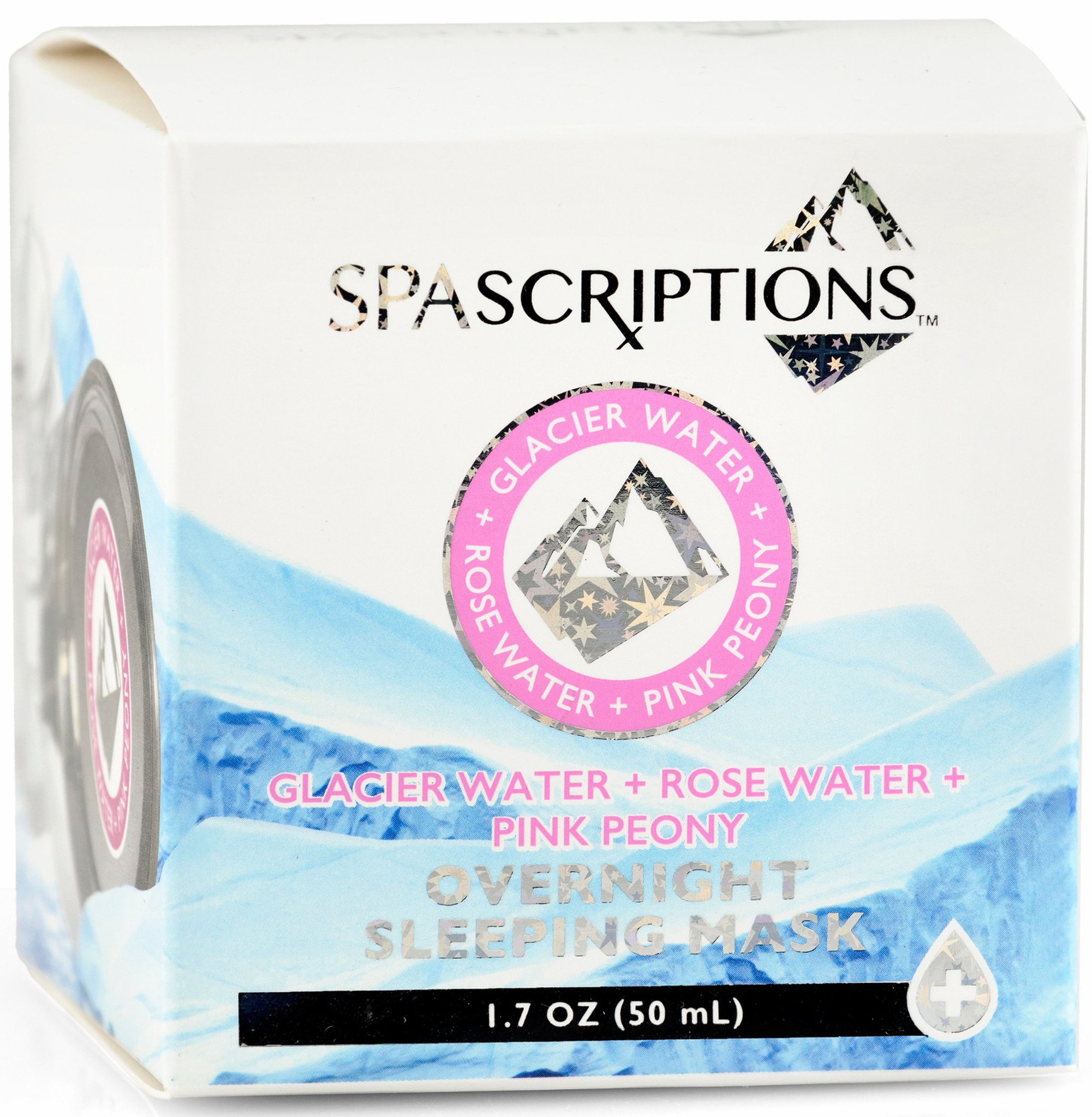 Spascriptions Glacier & Rose Water With Pink Peony Sleeping Mask
