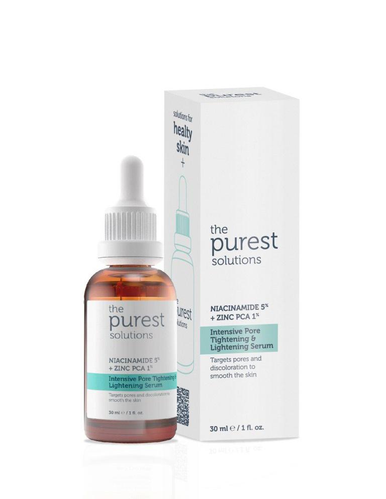 The Purest Solutions Intensive Pore Tightening & Lightening Serum Niacinamide %5 + Zinc Pca %1 (30 ML)