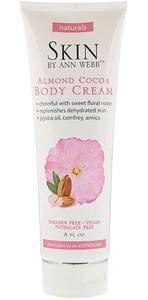 Skin By Ann Webb Body Cream, Almond Cocoa