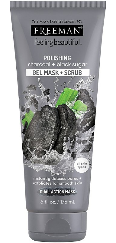 Freeman Polishing Charcoal + Black Sugar Gel Mask + Scrub