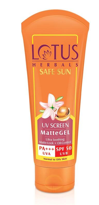 Lotus Herbals Safe Sun Uv Sunscreen Matte Gel Pa+++ Spf-50