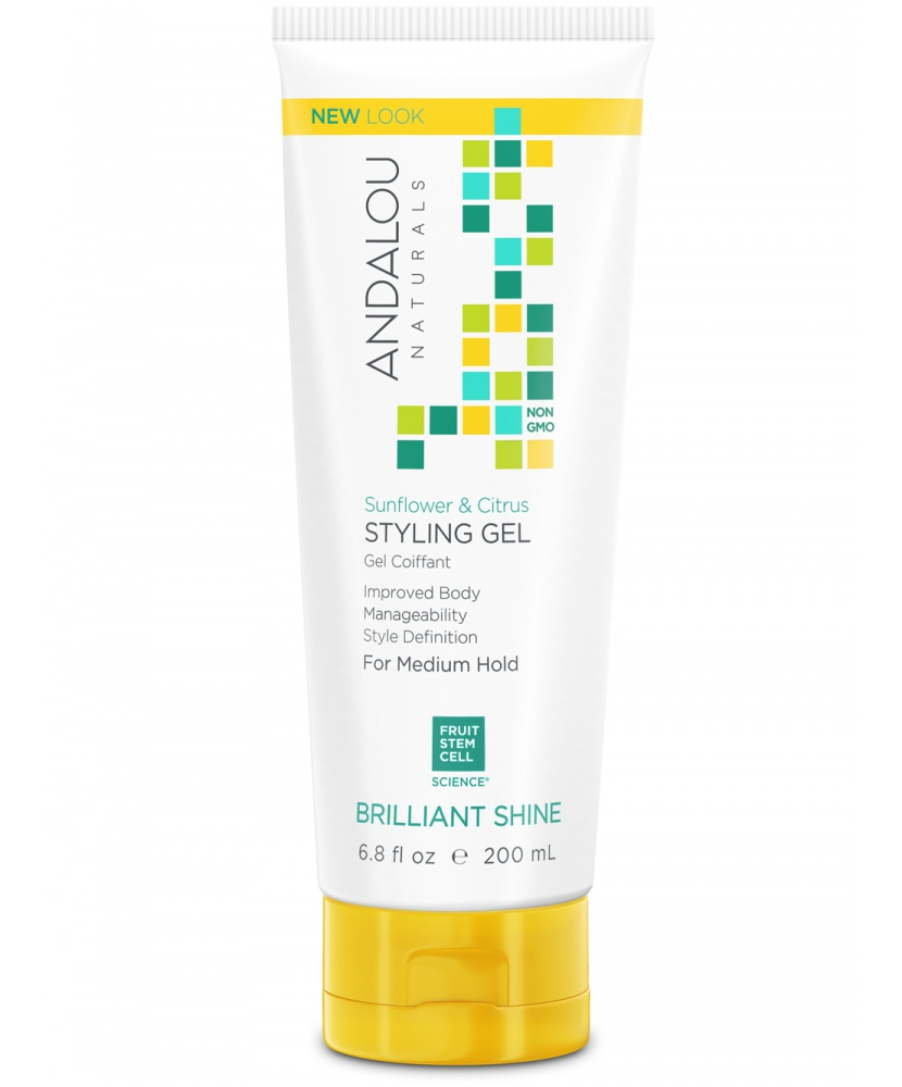 Andalou Naturals Andalou Sunflower And Citrus Medium Hold Styling Gel
