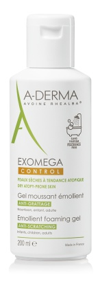 A-Derma Exomega Control Emollient Foaming Gel