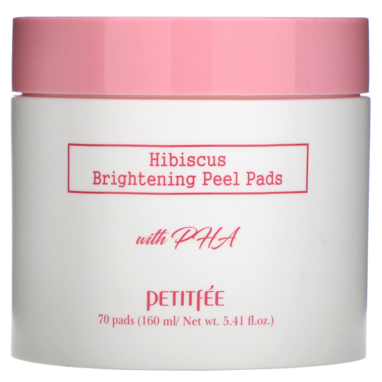 Petitfee , Hibiscus, Brightening Peel Pads