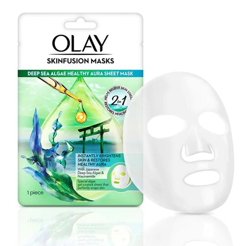 Olay Skinfusion mask Deep sea algae sheet mask